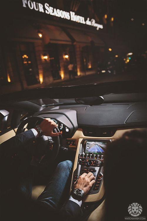 Off we go~Lamborghini interior