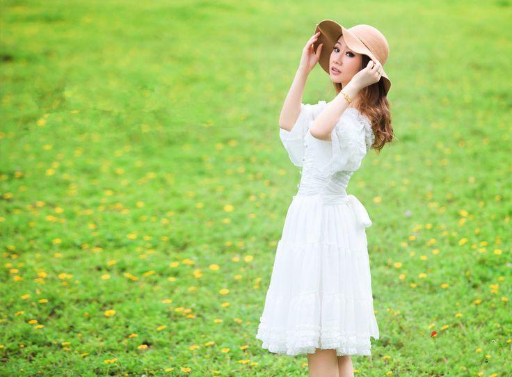 Cheap Bohochic mujeres diseño Original de la corte Vintage clásica fuera del hombro manga de la llamarada del verano vestido de la princesa blanca AQD001X Boho Chic, Compro Calidad Vestidos directamente de los surtidores de China:    Carta del tamaño (medida en cm, 1 cm = 0.39 pulgadas, 1 pulgadas = 2.54 cm)      Longitud  Busto  Hombro  Bícep