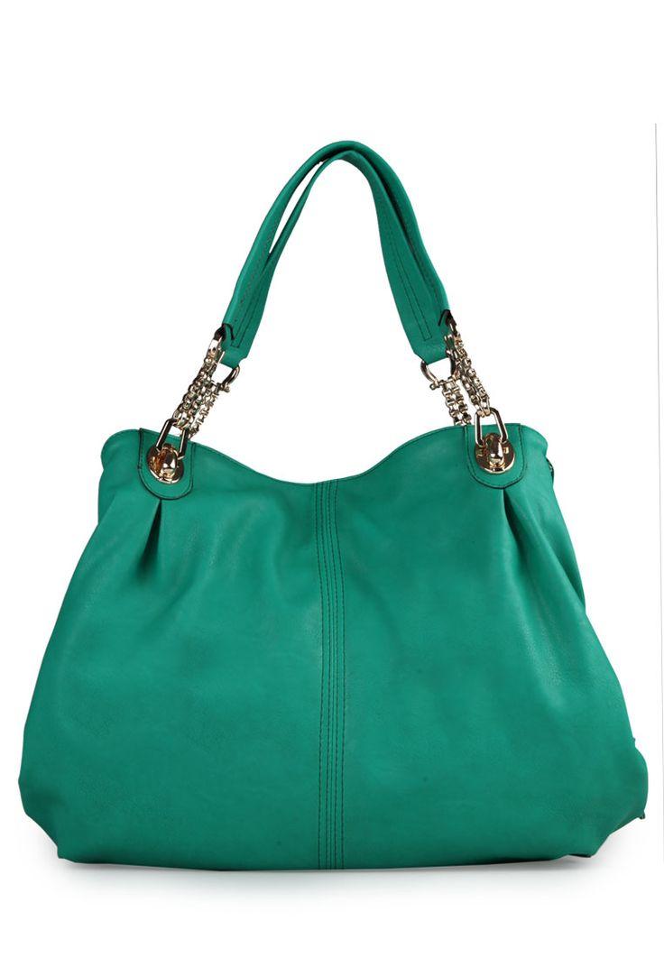 Sofia leather shoulder bag green