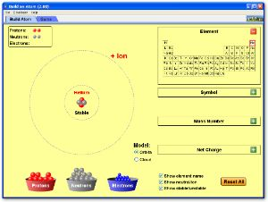 Build an Atom Screenshot- brilliant to allow students to understand basic atom structure