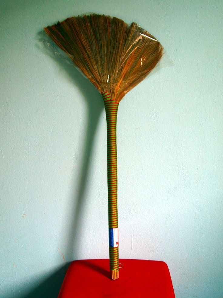 Vietnamese straw brooms. I'll never go back to regular brooms. Ever.
