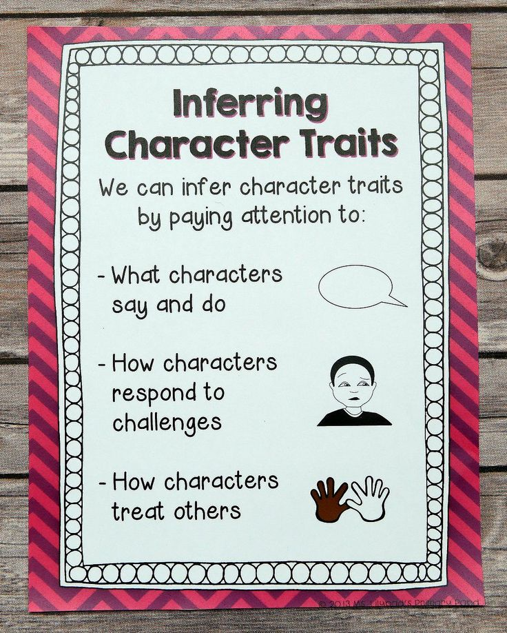 """I taught a lesson and used this anchor chart to teach my second grade students how to infer character traits! I kept this poster up so that they could refer to it throughout our """"All About Characters"""" reading workshop unit. $"""