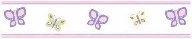 Butterfly Pink & Purple Wall Border - 6 inches x 15 feet Baby SuperMall Stock #: jjdbplwb Manufacturer's Model #: border-butterfly-pk-lv Butterfly Pink & Purple Wall Border - 6 inches x 15 feet In Stock - Ships Fri, Jul 5thLearn more...	 The Butterfly Pink & Purple Wall Border measures 6 inches x 15 feet. It is prepasted and washable. Hanging instructions are included. See the entire Butterfly Pink & Purple Crib Bedding collection from Sweet Jojo Designs.