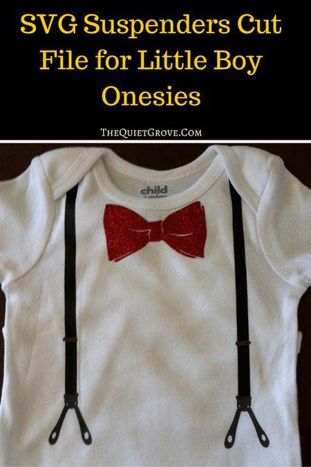 SVG Suspenders Cut File for Little Boy Onesies
