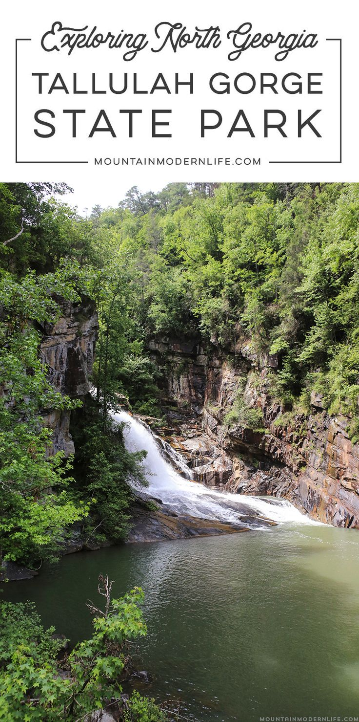 Looking to get out and explore North Georgia? Look no further than Tallulah Gorge State Park, it's one of the largest gorges on the East Coast! via @MtnModernLife