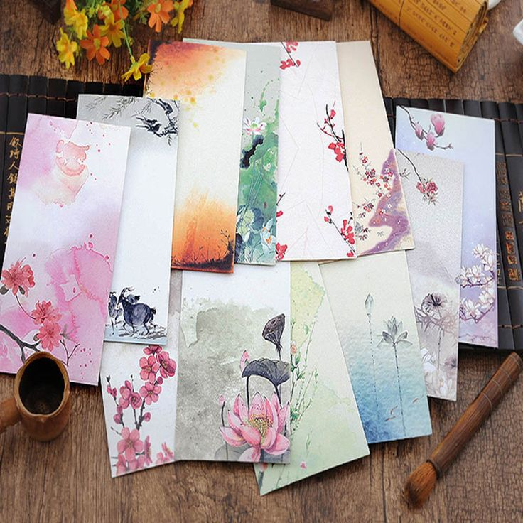 10 Pieces /Lot Vintage Chinese Style Vintage Craft Paper Envelope For Letter Paper Postcards Korean Stationery Free Shipping 272