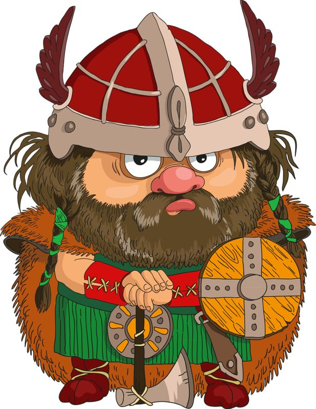 Картинки детские викингов