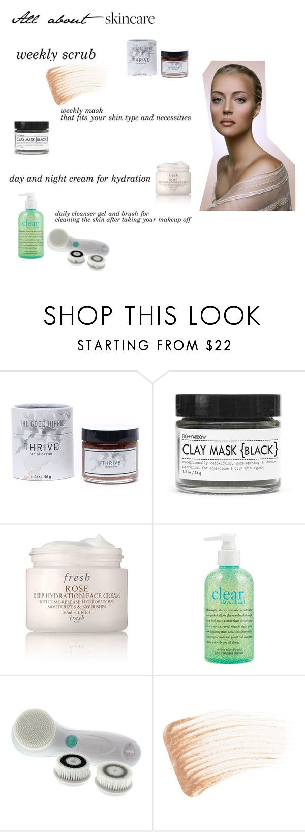 """""""Untitled #25"""" by anamariahodinet on Polyvore featuring beauty, SkinCare, Fig+Yarrow, Fresh, philosophy, Vanity Planet and By Terry"""