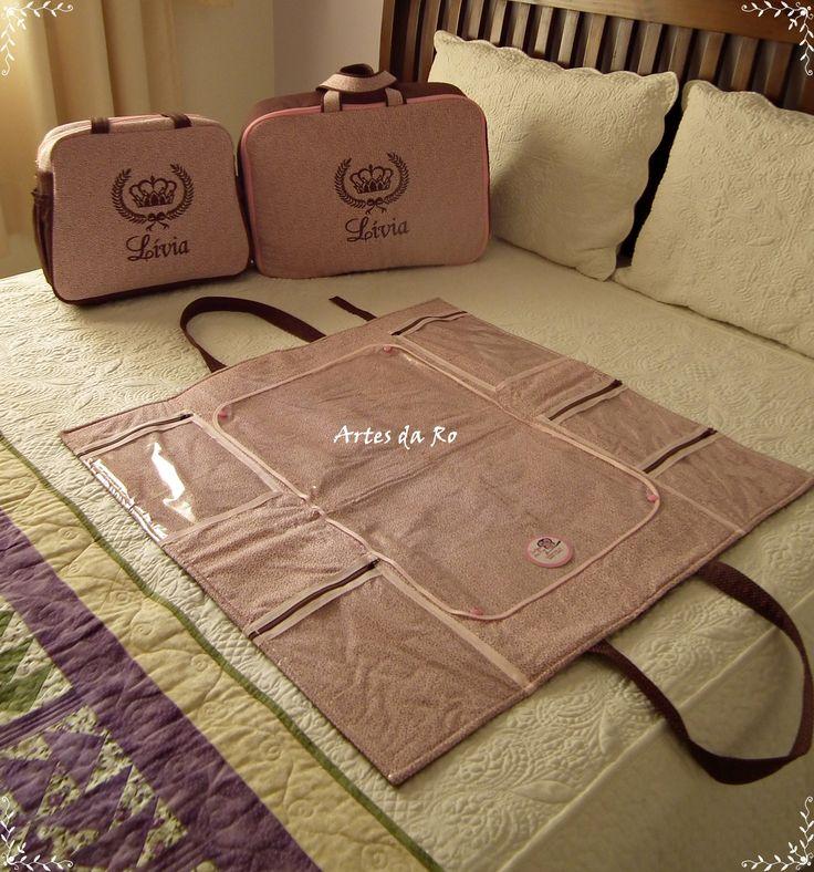 Kit bolsa de passeio + Mala de Maternidade + Bolsa trocador