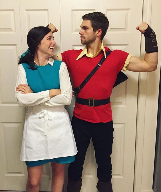 Pin for Later: 120+ Easy Couples Costumes You Can DIY in No Time Belle and Gaston From Beauty and the Beast