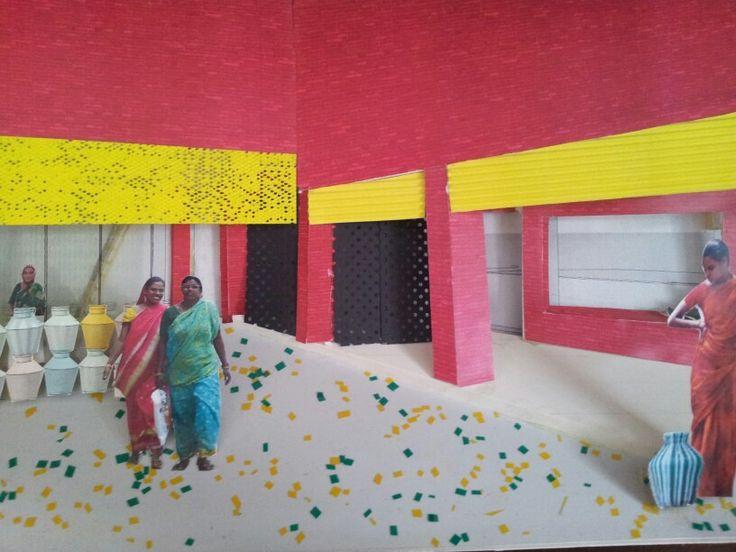 Byggt perspektiv passage, från mitt examensprojekt i arkitektur