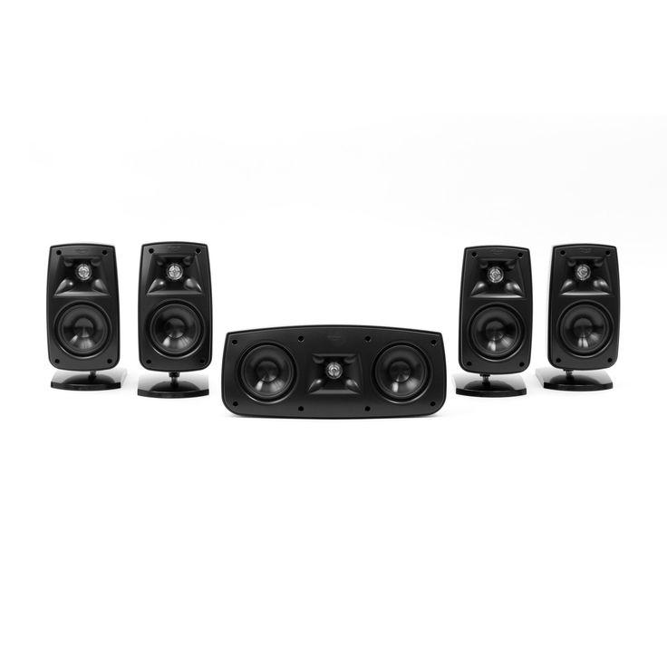 klipsch surround sound speakers. klipsch 1010440 qunitet iv home theater system -(black hg). satellite speakerssmall speakerssurround sound surround speakers