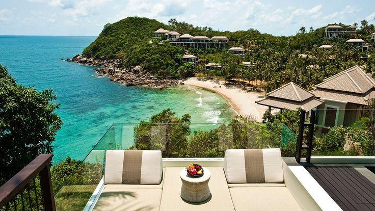 Si te gusta viajar con estilo, en #KohSamui encontrarás las mejores vistas desde los mejores hoteles; te ayudamos a hacer tu sueño realidad! ✉️: www.majatoursthailand.com #tailandia #isla #samui #lujo #vista #mar #playa #arena #majatours #vacaciones #viaje #sueñohechorealidad #hotel #tailandiaenespañol