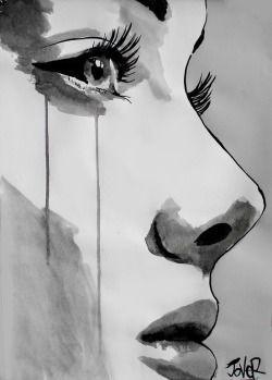 Liebe Fotografie Zeichnung Kunst Mädchen Mädchen schwarz und weiß traurig Augen Foto Hipster v