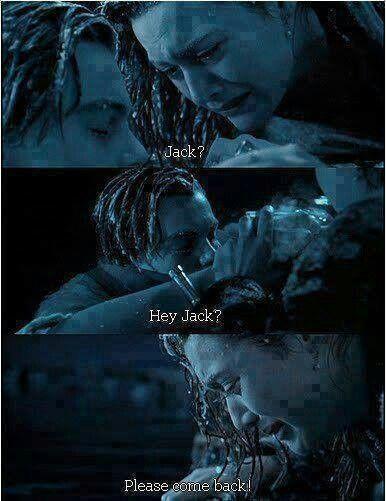 Titanic movie. Leonardo DiCaprio Kate Winslet..I'll never let go Jack.