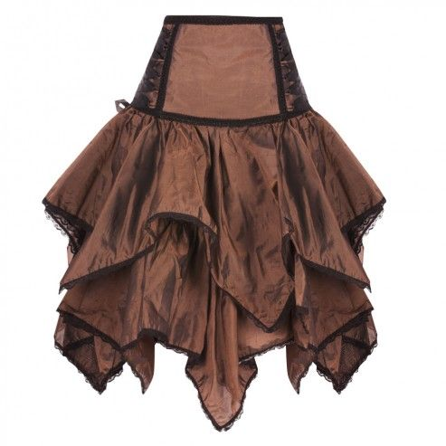 Bronze Double Layered Skirt