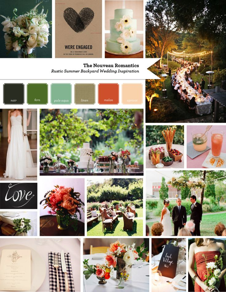 Backyard Summer Wedding Inspiration by The