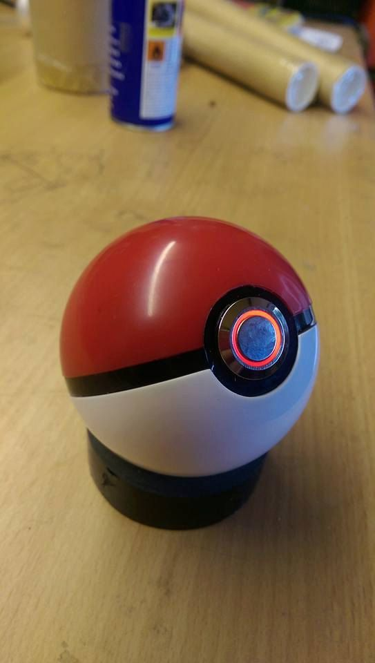 here for sale i have a modified plastic pokeball toy with led switch wired in. The ball opens to allow access to battery replacement. Also room to…