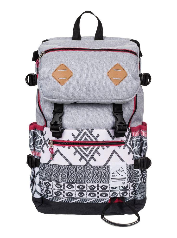 roxy, Tribute - 20L Snow Backpack, WINDY ROAD_TRUE BLACK (kvj6)