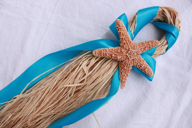 Turquoise Beach Wedding Starfish Chair Hanger. $12.00, via Etsy.