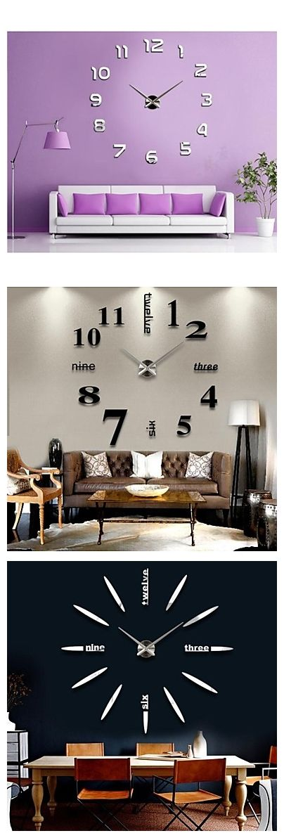Cool and big clocks stick on your wall! Sounds good?
