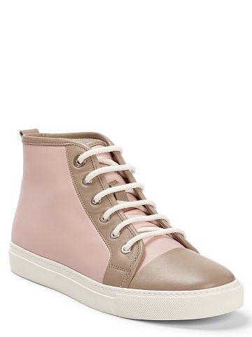 Ralph Lauren Silvana Calfskin Sneaker - Ralph Lauren Shop All - Ralph Lauren France
