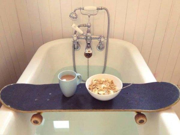 Frühstück in der Badewanne