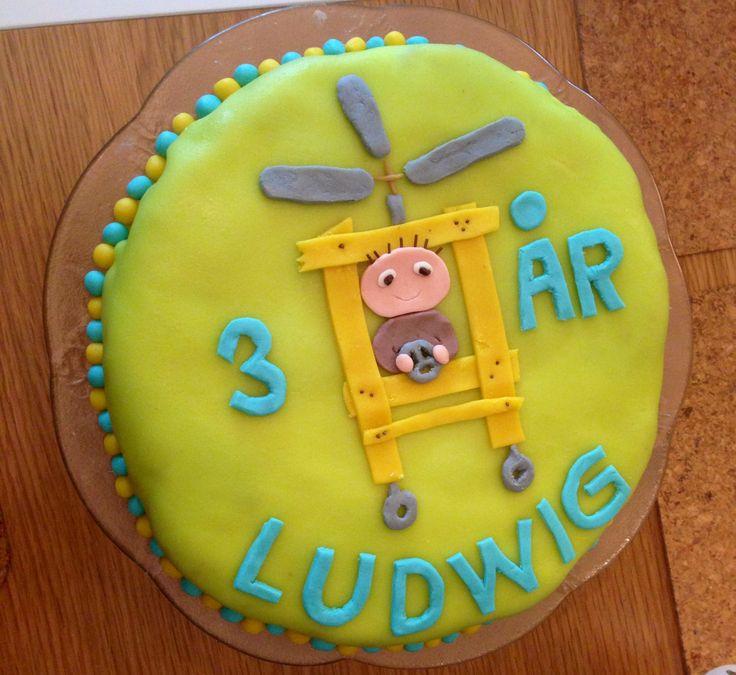 Alfonstårta. Alfie Atkins Cake. Gjord efter bild på nätet. Inspired by similar cake on the internet.