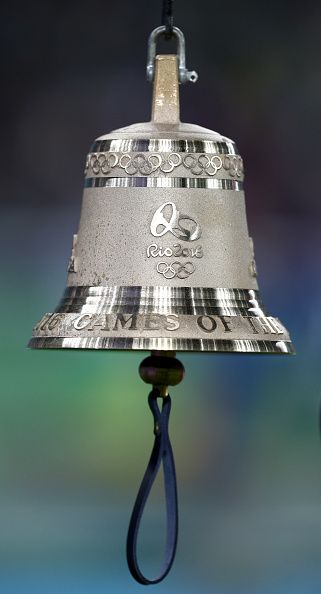 The Rio 2016 bell on Day 7 of the Rio 2016 Olympic Games at the Olympic Stadium…