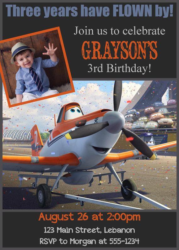 Disney Planes Photo Birthday Invitation by WalkerPhotoInvites