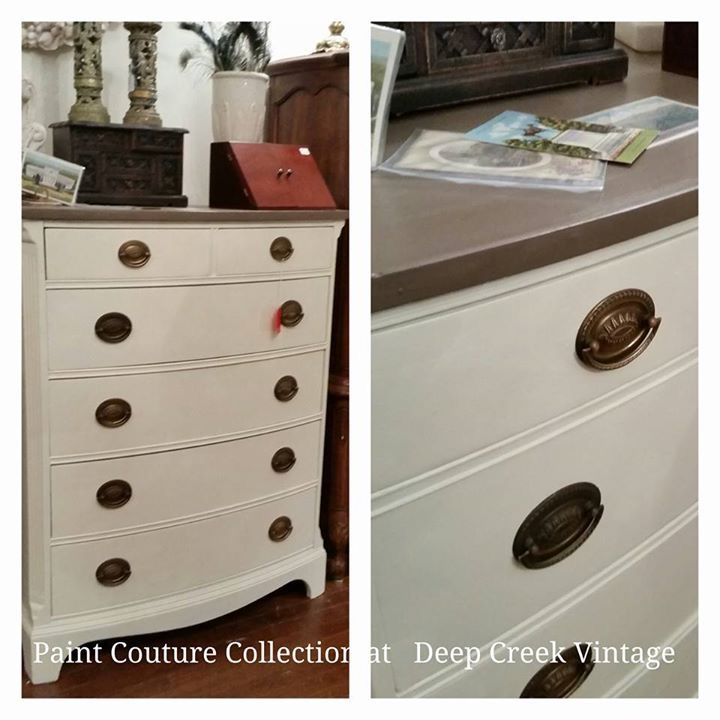 Paint Couture Italian Ivory With Madagascar Mocha, Matte Topcoat By Deep  Creek Vintage