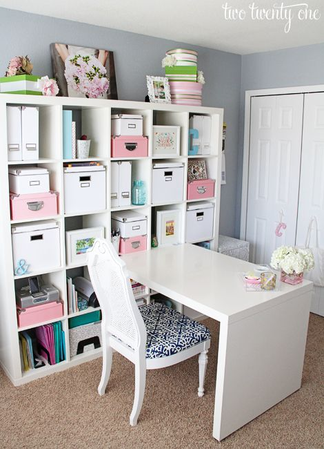 Gorgeous! Home Office Makeover via @two_twenty_one