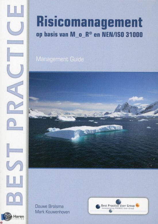 Boek: Risicomanagement op basis van M_o_R® en NEN/ISO 31000.  Dit boek biedt een brede kijk op Risicomanagement, met achtergrondinformatie, praktijkvoorbeelden en tips voor succesvolle toepassing. Deze 'Management Guide' kan ook worden gebruikt ter voorbereiding op het M_o_R Foundation-examen van APMG.