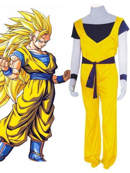 Dragon Ball Son Goku Halloween Cosplay Costume Super Saiyan 3