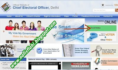 How To Apply Voter Id Card Online in delhi