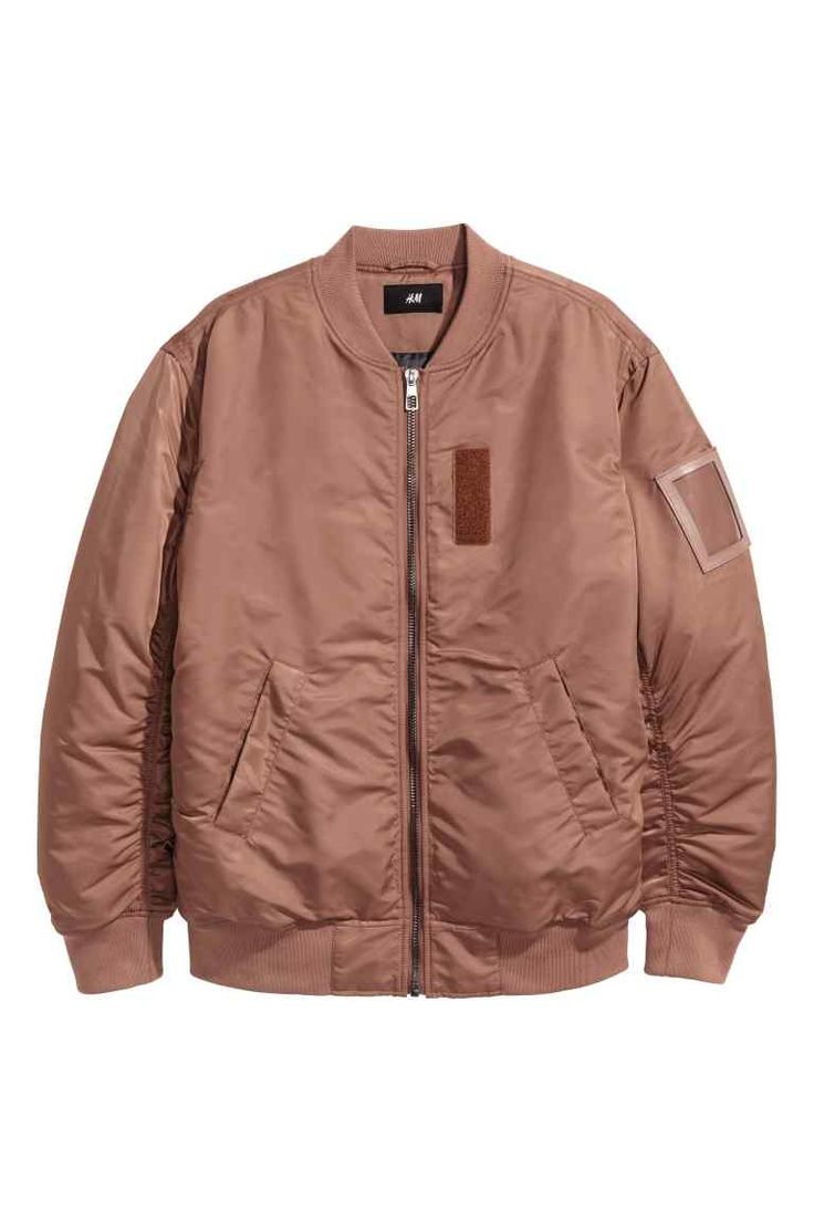 Nylon bomber jacket - Light brown - Men | H&M GB