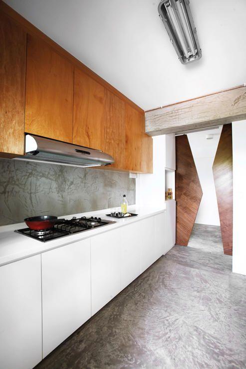 Industrial Themed HDB Kitchen
