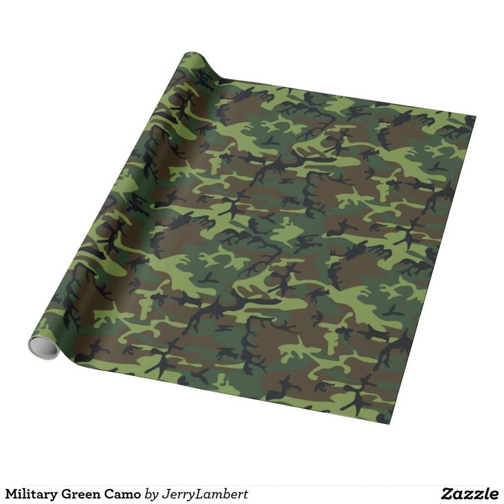 Military Green Camo Wrapping Paper