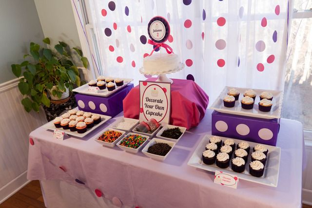 Decorate your own cupcake bar.