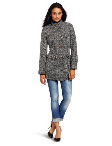 Aryn K Women's Wool Jacket, Grey, Medium