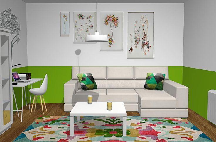 Sala de estar con los muebles del catálogo Roma