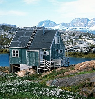 small house in rural Greenland
