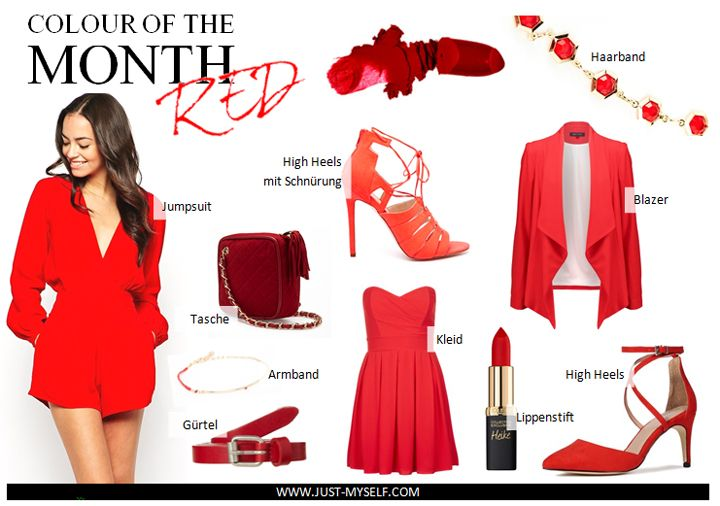 Colour of the month. Red. Rot. roter Jumpsuit. rote Pumps. roter Blazer. rote Umhängetasche. roter gürtel. rotes Cocktailkleid. rotes Haarband. #colour #colourofthemonth #red #rot #jumpsuit #roterjumpsuit #kurzerjumpsuit #overall #kurzeroverall # highheels #highheelsmitschnürung #lippenstift #haarband #blazer #roterblazer #blazermitwasserfallkragen #wasserfallkragen #kleid #kurzeskleid #gürtel #cocktailkleid #inspiration #fashion #mode #streetstyle #blogger #fashionblogger #modeblogger