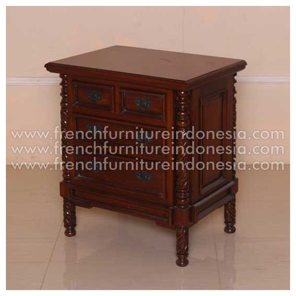 Order Bali Nighstand from Classic Furniture. We are reproduction Furniture manufacture with french style good quality and classic furniture style. This Bed is made from mahogany wood with good quality and treatment process and the design has a strong construction, suitable to your bedroom. #ClassicFurniture #FurnitureManufacturer #MahoganyFurniture #ExporterFurniture #WoodenFurniture