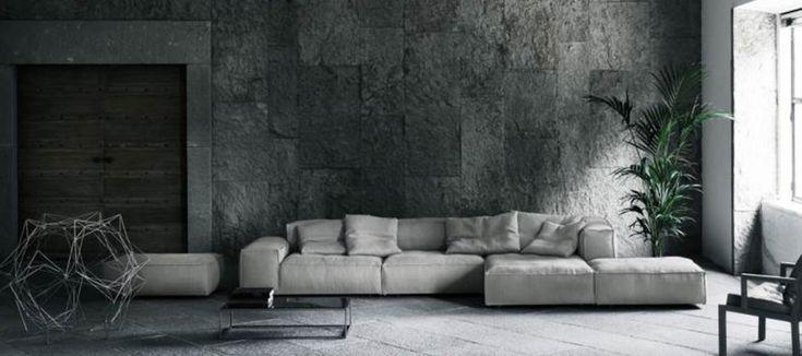 Living Divani Neo Wall sofa sfeerfoto interieur grijs Piero Lissoni