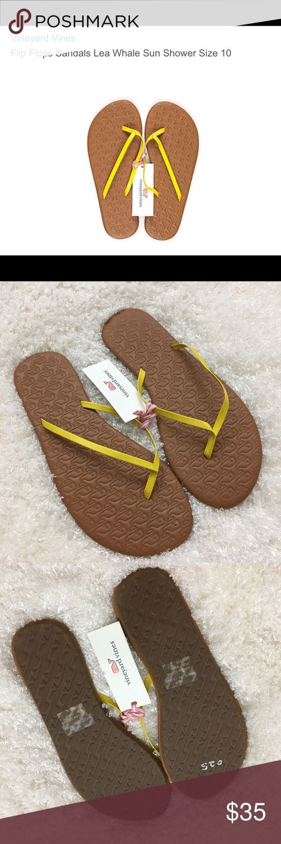 NEW Vineyard Vines Women's Flip Flops Lea Whale 10 New with tag! Vineyard Vines women's flip flop with embossed lea whale. Style: 2Z0155-765-10  Size 10  Please see all pictures for details or ask questions prior to purchase to avoid returns.  Check out my store for more items on sale! Vineyard Vines Shoes Slippers