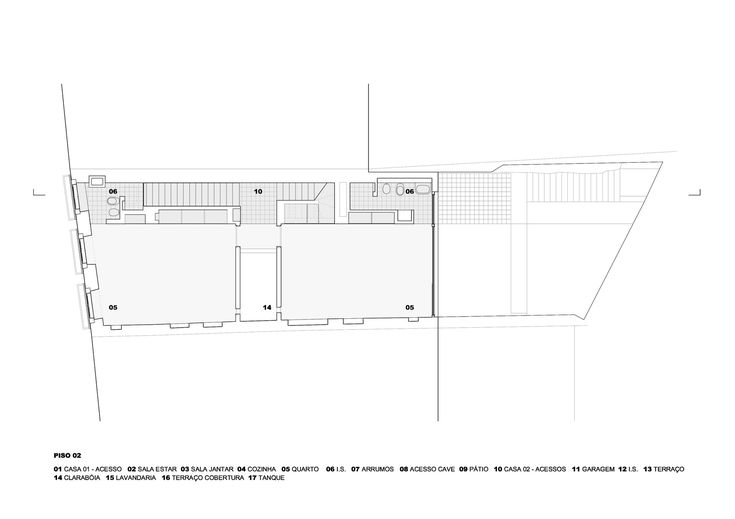 Prazeres House,Second Floor Plan