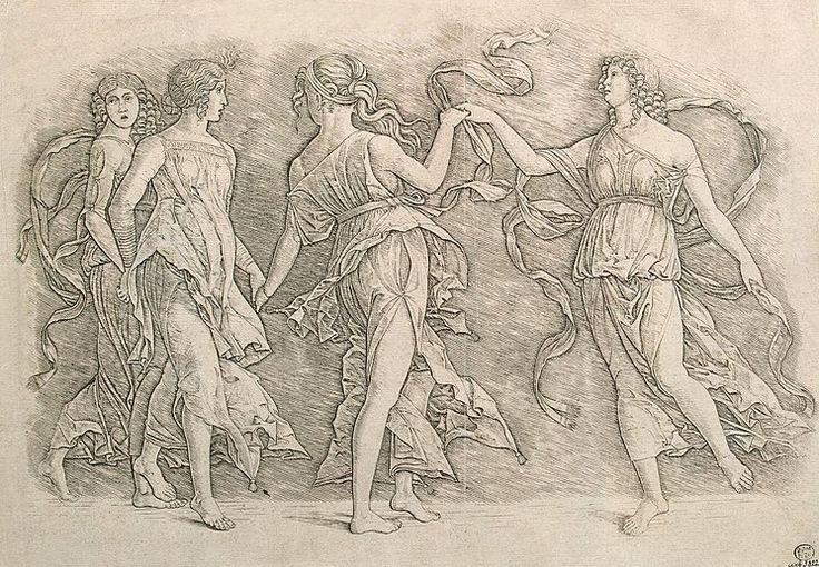 Four Dancers c. 1500, Andrea Mantegna.