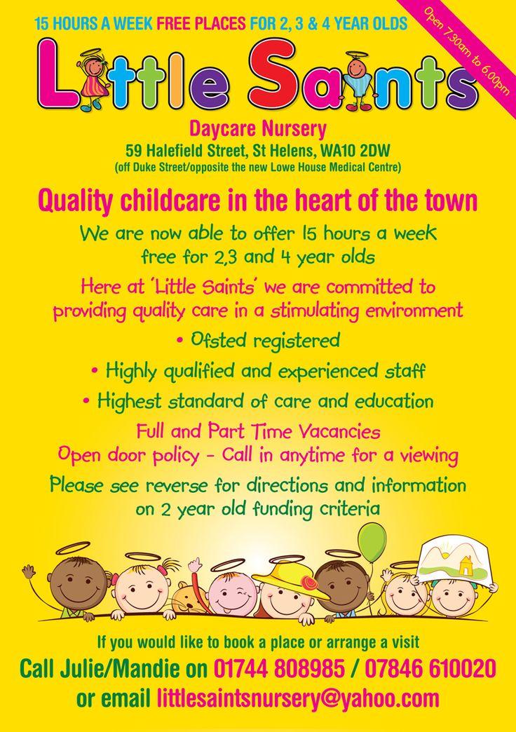Childcare Leaflet Design For Little Saints Daycare Nursery