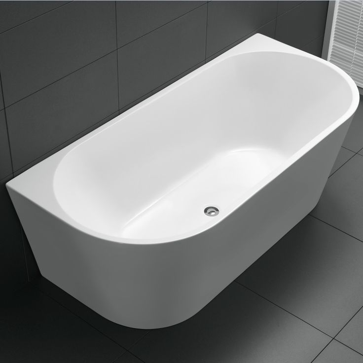 The Avalon is a beautiful back to wall freestanding bath shaped to fit in the smallest of areas but still maintain an elegant look. Available in Sydney.